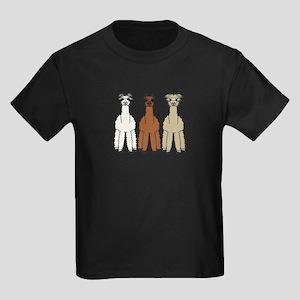 Alpaca (no text) Kids Dark T-Shirt