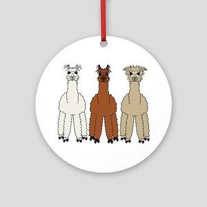 Alpaca (no text) Ornament (Round)