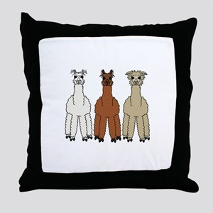 Alpaca (no text) Throw Pillow