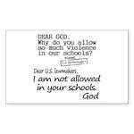 Dear God Sticker (Rectangle 50 pk)