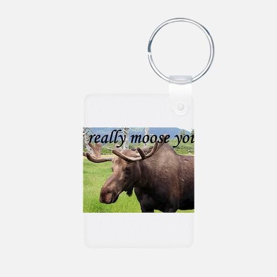 I really moose you Keychains