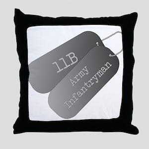 11B infantryman Throw Pillow