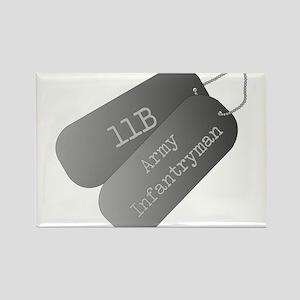 11B infantryman Rectangle Magnet