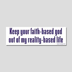 Keep Your Faith-Based God Car Magnet 10 x 3