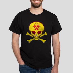 Yellow Biohazard Skull Dark T-Shirt