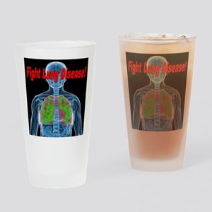 Fight Lung Disease Drinking Glass