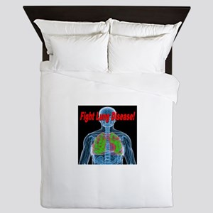 Fight Lung Disease Queen Duvet