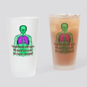 Organ Donor Rip-Off Drinking Glass
