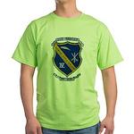 USS BADGER Green T-Shirt