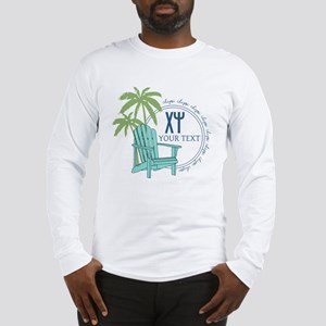 Chi Psi Palm Tree Personalized Long Sleeve T-Shirt
