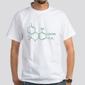 THC Molecule White T-Shirt
