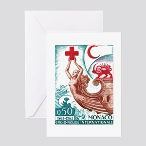 1963 Monaco International Red Cross Stamp Greeting