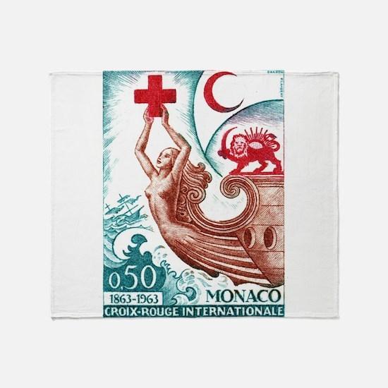 1963 Monaco International Red Cross Stamp Stadium