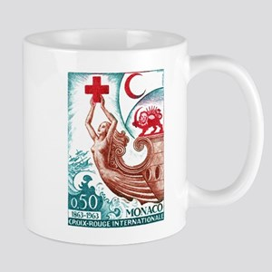 1963 Monaco International Red Cross Stamp Mug