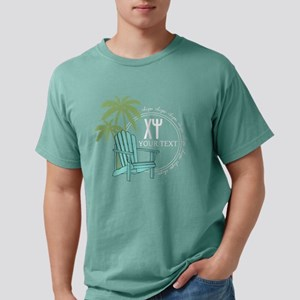 Chi Psi Palm Tree Person Mens Comfort Colors Shirt