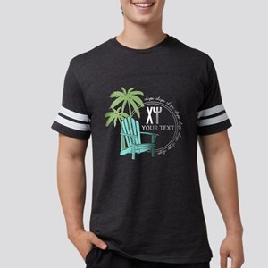 Chi Psi Palm Tree Personalized Mens Football Shirt