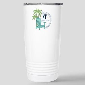 Chi Psi Palm Tree 16 oz Stainless Steel Travel Mug