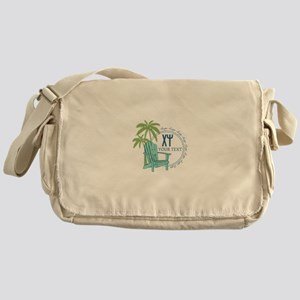 Chi Psi Palm Tree Personalized Messenger Bag