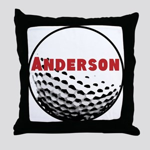 Personalized Golf Throw Pillow