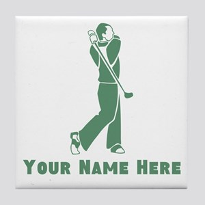 Personalized Golf Tile Coaster