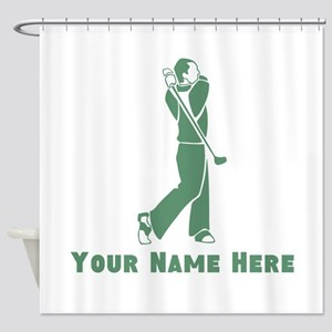 Personalized Golf Shower Curtain