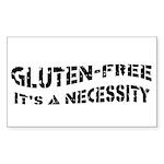 GLUTEN-FREE ITS A NECESS Sticker (Rectangle 50 pk)