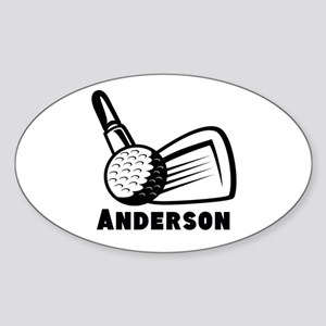 Personalized Golf Sticker (Oval)