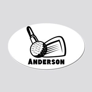 Personalized Golf 20x12 Oval Wall Decal