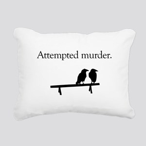 Attempted Murder Rectangular Canvas Pillow