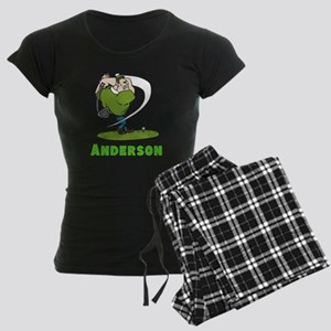 Personalized Golf Women's Dark Pajamas