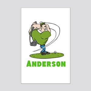 Personalized Golf Mini Poster Print