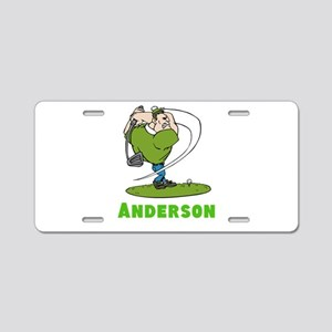 Personalized Golf Aluminum License Plate