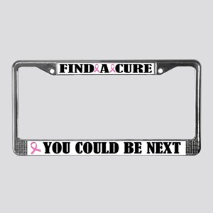 Breast Cancer Cure License Plate Frame