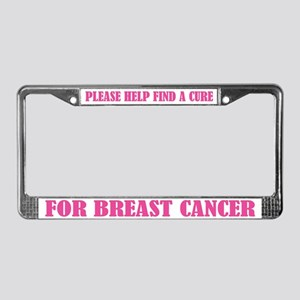 Find A Cure for Breast Cancer License Plate Frame