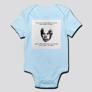 Joe Biden: 30% Chance Quote Infant Bodysuit