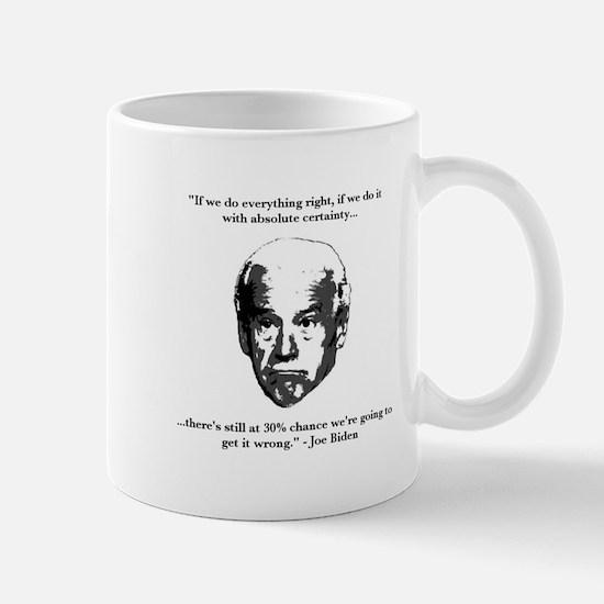 Joe Biden: 30% Chance Quote Mug