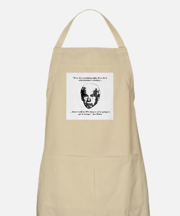 Joe Biden: 30% Chance Quote Apron
