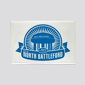 North Battleford 100 logo Rectangle Magnet