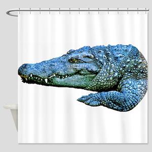 Mad Crocodile Shower Curtain
