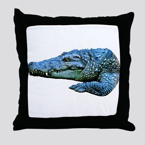 Mad Crocodile Throw Pillow
