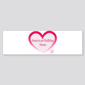 American Bulldog Mom Pink Heart Sticker (Bumper)