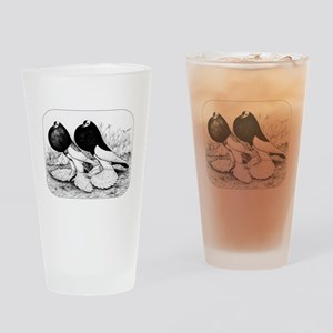 Reversewing Pouters Drinking Glass