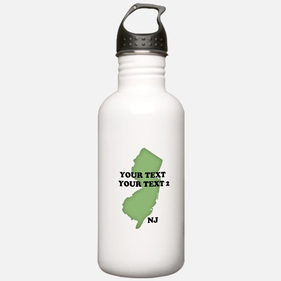 NJ YOUR TEXT Water Bottle