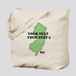 NJ YOUR TEXT Tote Bag