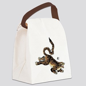 Japanese Tiger Art Canvas Lunch Bag