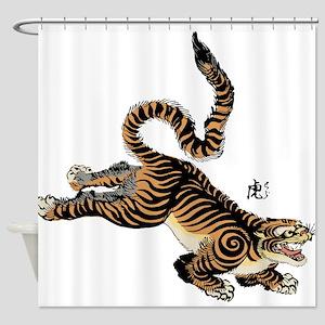 Japanese Tiger Art Shower Curtain