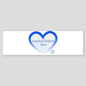 Australian Shepherd Blue Heart Sticker (Bumper)