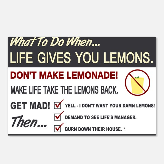Life gives you lemons Postcards (Package of 8)