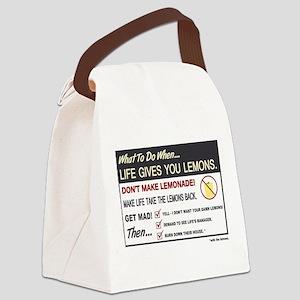 Life gives you lemons Canvas Lunch Bag