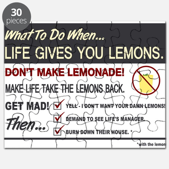 Life gives you lemons Puzzle